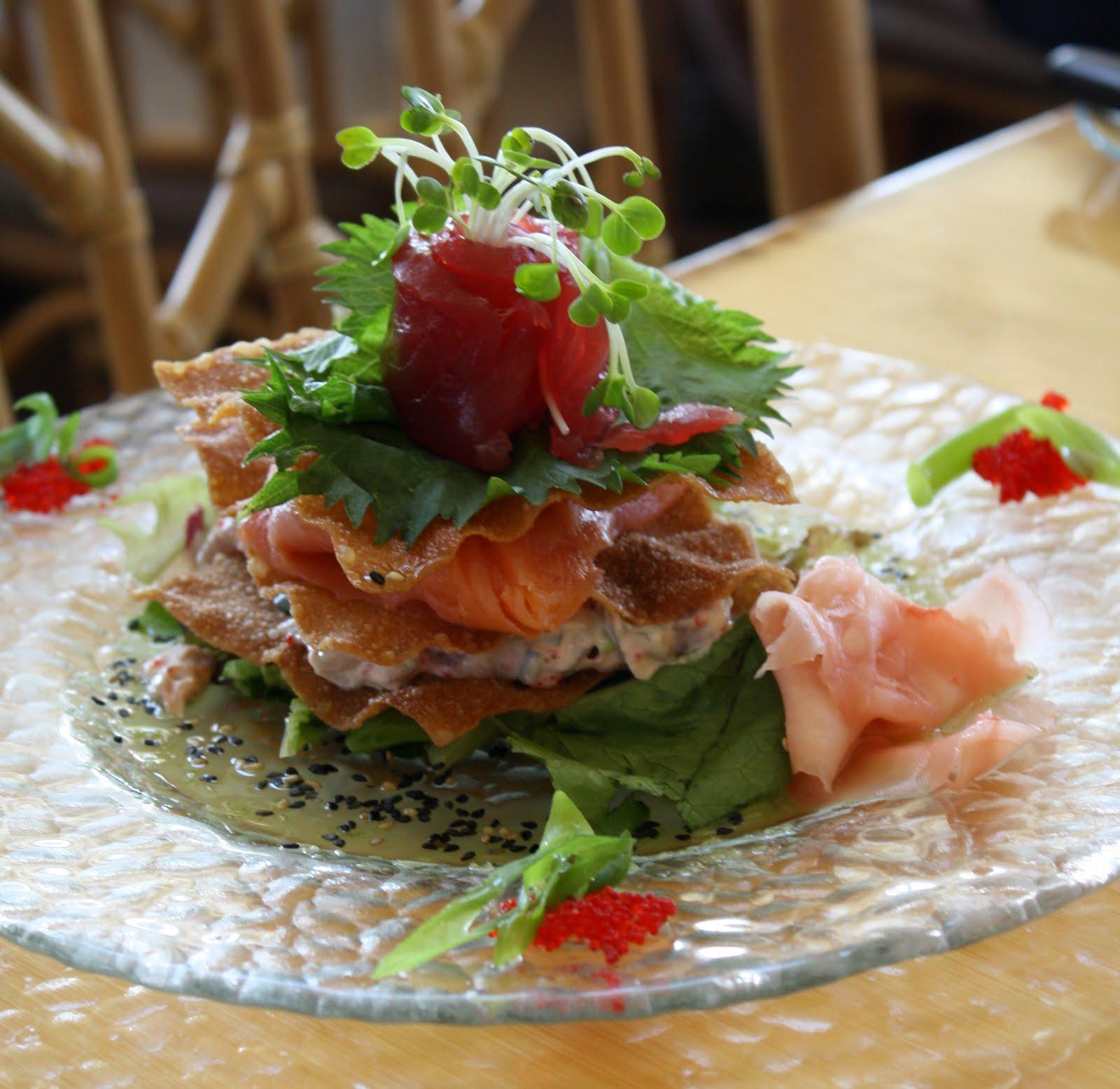 Tropical tuesday hali imaile s sashimi napoleon dirt and for Sashimi grade fish